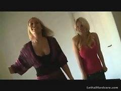 Gorgeous blonde mom and her cute daughter eager for some fun.