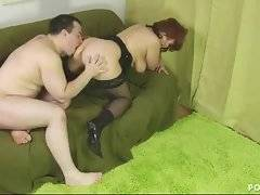 Busty redhead old slutie gets her cockloving hole licked and fucked.