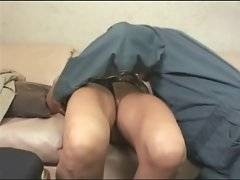 Busty blonde mamma gets her pussy sucked and gives blowjob.