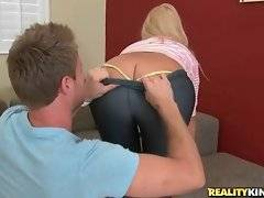 Young dude wants to touch her appetizing ass