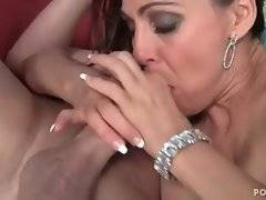 This whore is masterfully doing nonstop blowjob