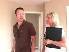 Hungry milf skilfully seduces handsome guy.