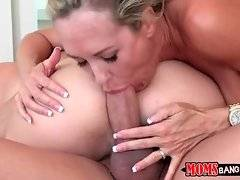 Natalia jumps on Xander`s thick dick and licks Brandi`s cunt.